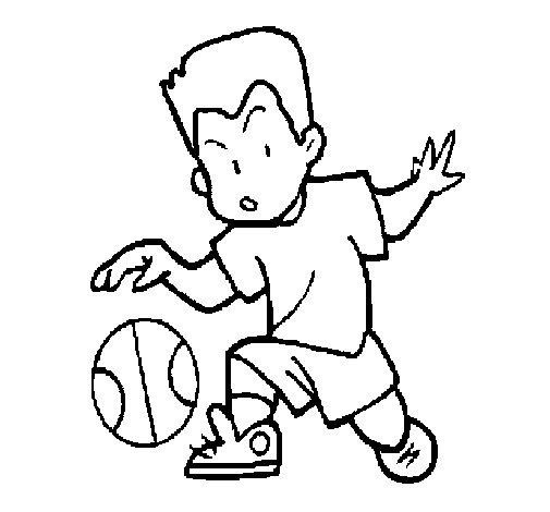 Dibujo de Niño botando la pelota para Colorear - Dibujos.net