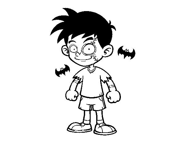 Dibujo De Niño Zombie Para Colorear Dibujosnet