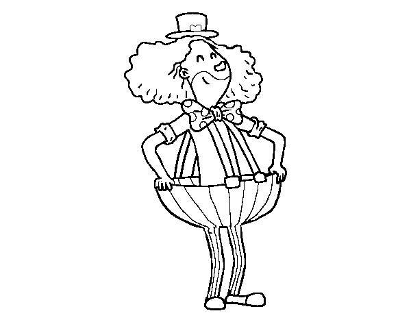 Dibujo De Payaso Con Pantalones Anchos Para Colorear Dibujosnet