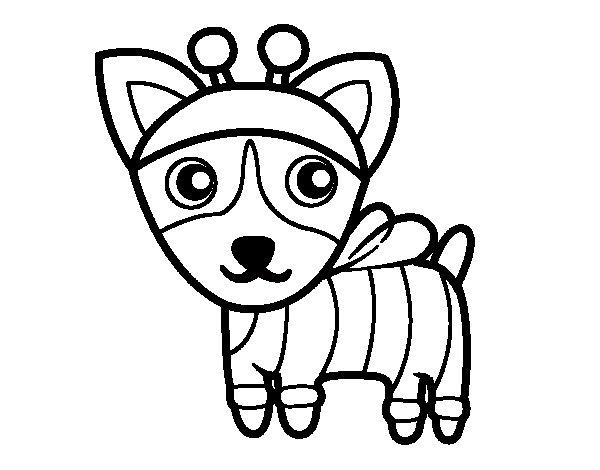 Dibujo de Perro-abeja para Colorear - Dibujos.net