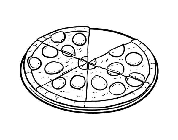 Dibujo de Pizza italiana para Colorear - Dibujos.net