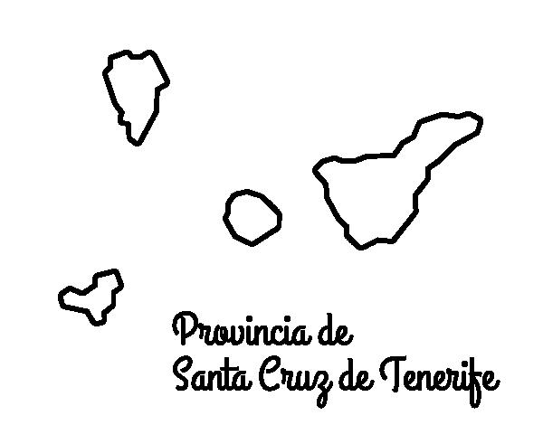 Dibujo De Provincia De Santa Cruz De Tenerife Para Colorear