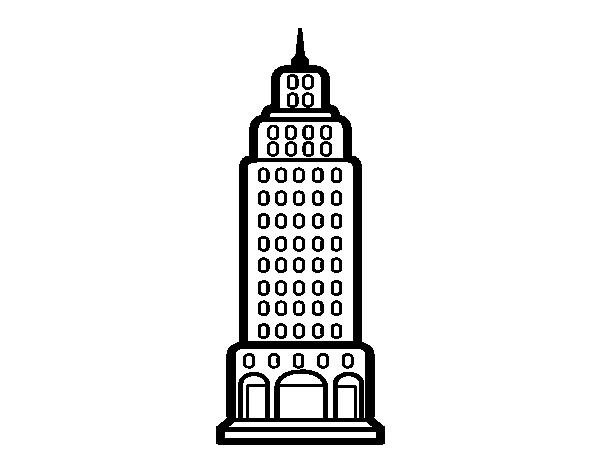 Dibujo de Rascacielos para Colorear   Dibujos.net