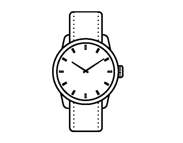 Dibujo de Reloj de pulsera para Colorear - Dibujos.net