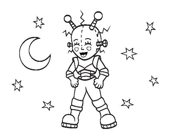 Dibujo de Robot astronauta para Colorear - Dibujos.net