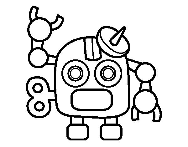 Dibujo De Robot Con Antena Para Colorear Dibujosnet