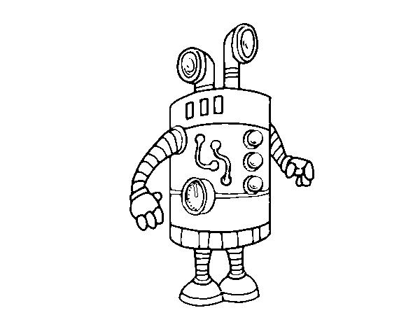 Dibujo de Robot periscopio para Colorear - Dibujos.net