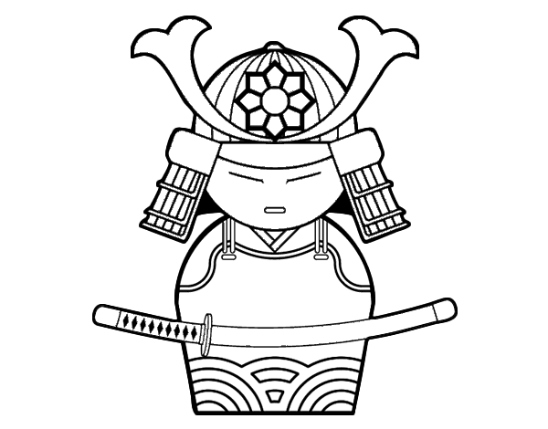 Lujoso Samurai Para Colorear Para Imprimir Adorno - Páginas Para ...