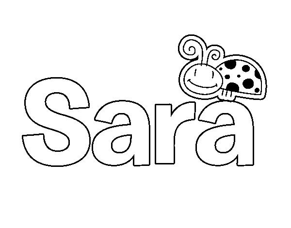 Dibujo de Sara para Colorear - Dibujos.net