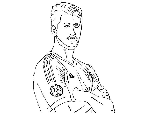 Dibujos Del Real Madrid Para Imprimir Y Colorear: Dibujo De Sergio Ramos Para Colorear