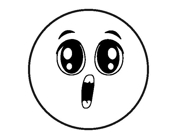 Dibujo De Smiley Sorpresa Para Colorear Dibujosnet
