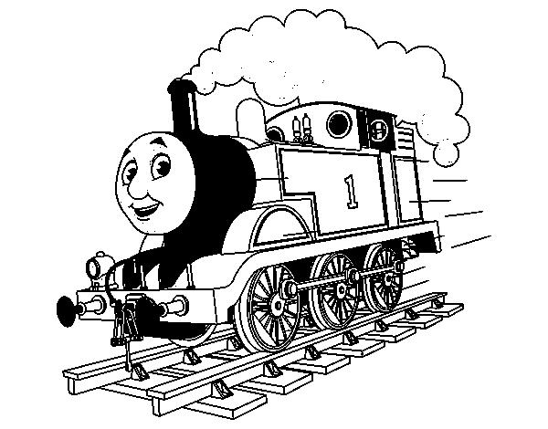 Dibujo De Thomas A Toda Máquina Para Colorear Dibujosnet