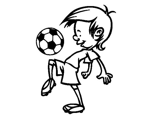 Dibujo de Toques con el balón para Colorear - Dibujos.net