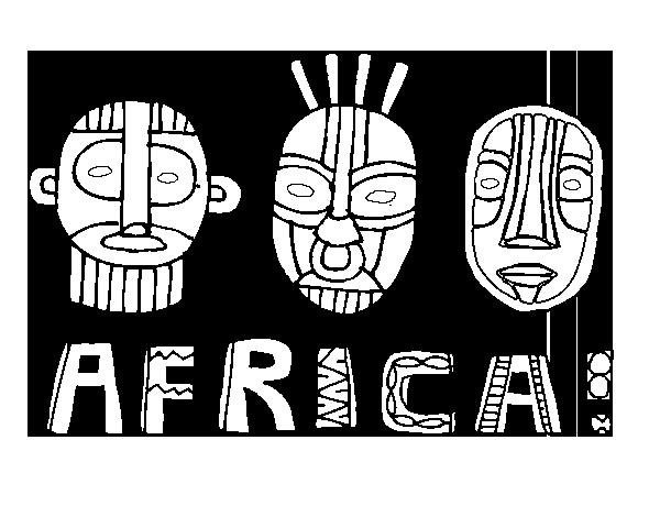 Dibujo de Tribus de África para Colorear - Dibujos.net