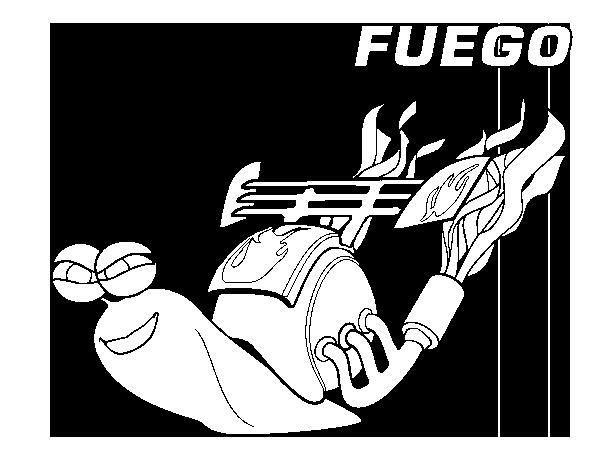 Dibujo de Turbo - Fuego para Colorear - Dibujos.net