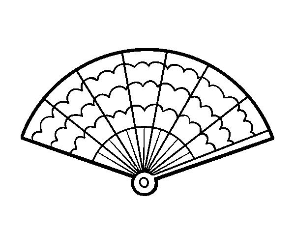 Dibujo de Un abanico para Colorear   Dibujos.net