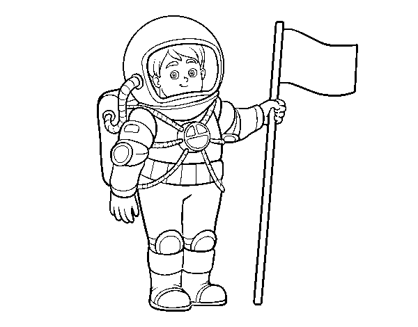Dibujo de Un astronauta para Colorear - Dibujos.net