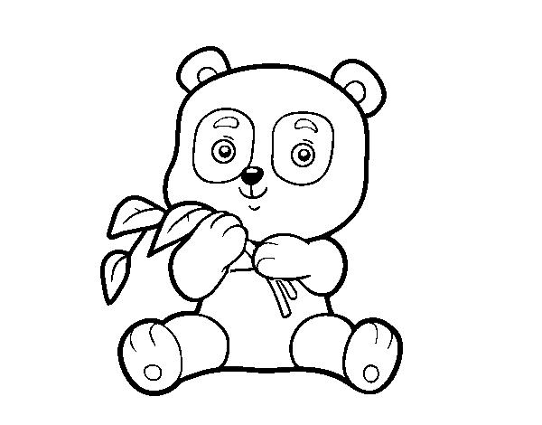 Dibujo de Un oso panda para Colorear - Dibujos.net