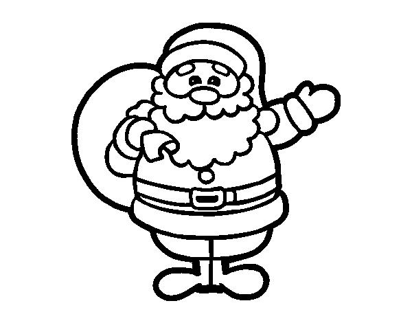 Dibujo de Un Papá Noel para Colorear   Dibujos.net