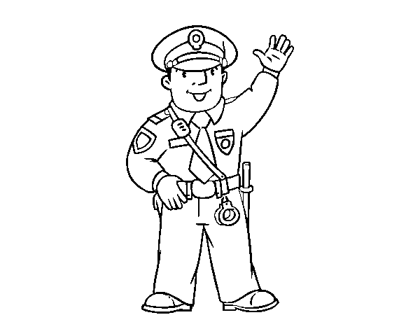 Dibujo de Un polícia para Colorear   Dibujos.net