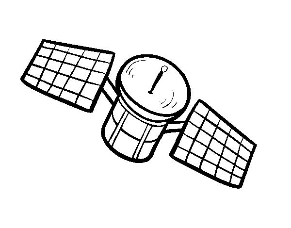 Dibujo de Un satélite para Colorear - Dibujos.net