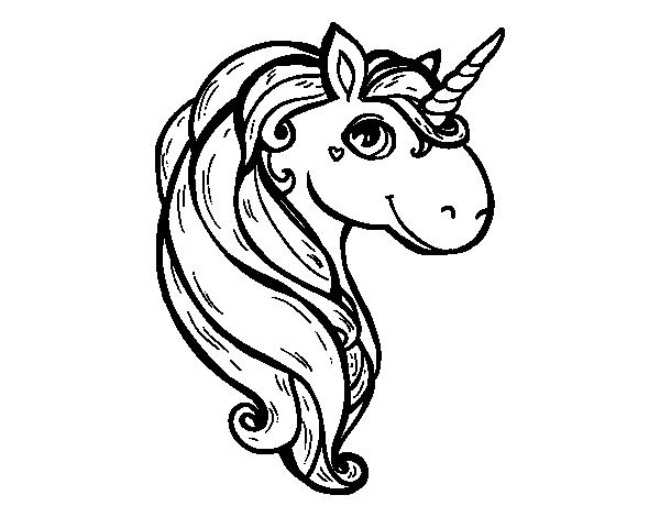 Dibujo de Un unicornio para Colorear - Dibujos.net