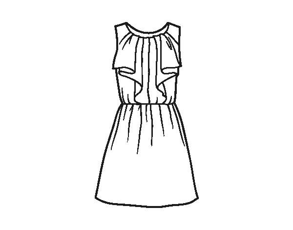 Dibujo de Vestido de noche para Colorear - Dibujos.net