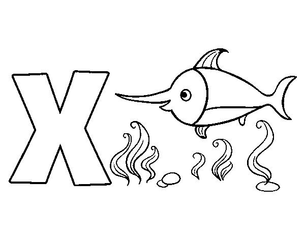 Dibujo De X De Xipihas Para Colorear Dibujosnet