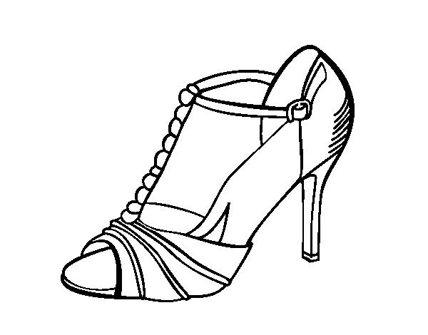 Dibujo de Zapato de fiesta para Colorear - Dibujos.net